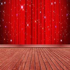 OpenSky Party Background, Red Background, Dark Curtains, Glitter Photo, Dark Wood Floors, Photography Backdrops, Photo Backgrounds, Flooring, Home