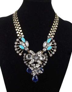 NEW Prom, Wedding, Special Occasion Dazzling Adj. Length Bib Collar Necklace!  #Handmade #Charm