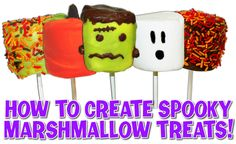 These Halloween Marshmallow pops are quick and easy to make! Great as a favor or a fun treat to make with friends!