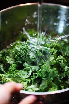 Creamy Potato Kale Soup - kale for the win! | pinchofyum.com