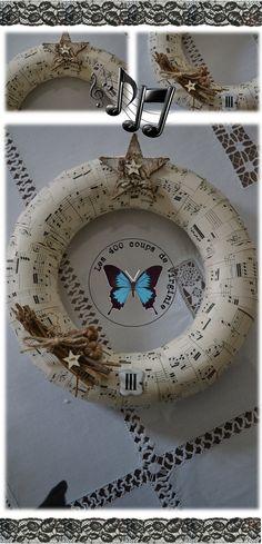 couronne déco papier musique