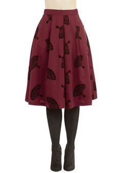 B. Jones Style Skirt in Wine. Named after one of our favorite fashion bloggers, this burgundy midi skirt is a wardrobe essential for the professional stylist on the go. #gold #prom #modcloth