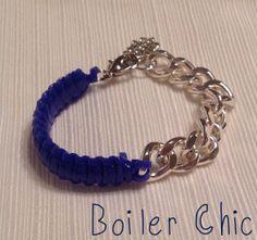Chain and Macramé Bracelet by BoilerChic on Etsy, $12.00