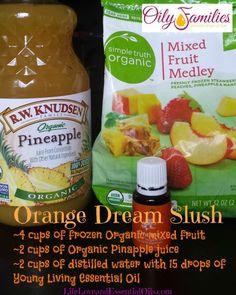 Orange Dream Slush Ingrediants | LifeLoveandEssentialOils.com