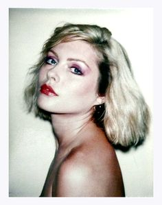 Another Debbie Harry Polaroid taken by Andy Warhol in 1980.