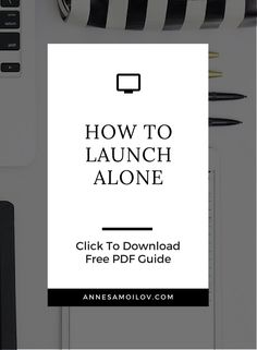 When you're first starting your business, you try to do everything alone...here's how to make sure you can actually launch even if you don't have the resources yet to launch alone!