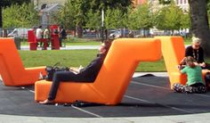 BOA | out-sider, seating, outdoor, plastic, polyethylene, colourful, by www.out-sider.dk Outdoor Play, Outdoor Decor, Urban Landscape, Urban Design, Sun Lounger, Color, Plastic, Park, School