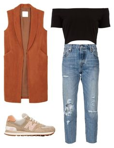 """Untitled #229"" by kimmm21 on Polyvore featuring New Balance, MANGO and Levi's"