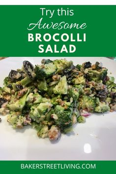 This delicious Broccoli salad is a perfect side dish, for ribs, steak, hamburgers or just about anything off of the BBQ. Its east to make and tastes delicious. Steak Sides, Steak Side Dishes, Brocolli Salad, Summertime Salads, Broccoli Stems, Hamburgers, Ribs, Lettuce, Bacon