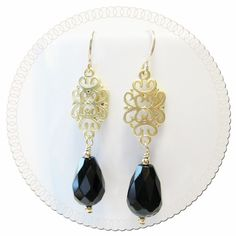 Filigree Drop Earrings (E031) | DelVecchio Designs