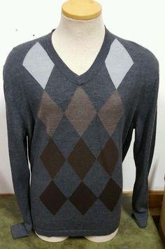 Alfani Men's Long Sleeve Shirt Casual Dress Wool Blend Dark Gray Size XL 1X #Alfani