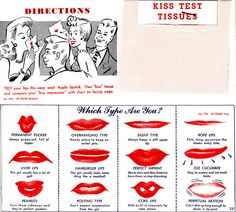 """Test Your Pucker!  Sadly, """"Coke Lips"""" has a new meaning today.  (1948)"""