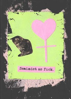 Feminist As Fck collage by TheEscapistArtist on Etsy, $5.00