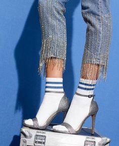 Limited Edition Straight Leg Dazzle Hem Jeans Limited Edition Straight Leg Dazzle Hem Jeans - Shop All Jeans - Jeans - Topshop Denim Fashion, Women's Fashion, Fashion Outfits, Fashion Design, Fashion Trends, Fashion Videos, Party Fashion, Fall Outfits, Outfit Jeans