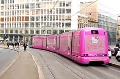 WOW! a HELLO KITTY tram for real!