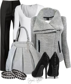 """Grey Scale"" by orysa on Polyvore"