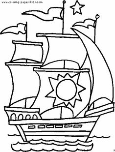 boat color page, transportation coloring pages, color plate, coloring sheet,printable coloring picture
