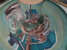 This work was done at the Escher museum in The Netherlands and inspired by Keer's painting, The Guano Islands Act. Leon Keer, 3d Street Painting, Chalk Festival, Terracotta Army, Internet Art, Dutch Artists, Netherlands, Islands