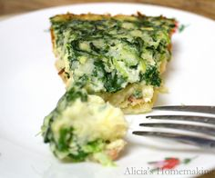 "Quick Crustless Quiche-easy and good (I mean really, you can't go wrong with a bacon and cheese ""crust"", BUT took 1 hour to cook, not 30 mins Freezer Cooking, What's Cooking, Cooking Recipes, Fun Recipes, Brunch Recipes, Vegetarian Recipes, I Love Food, Good Food, Yummy Food"
