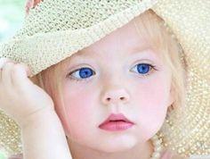 Blonde hair blue eyes. So cute!