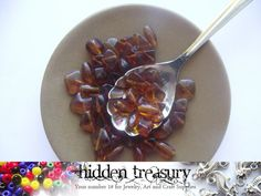 Amber Glass beads 31g. Fun Colorful beads. Great by HTCandyBeads, $2.50