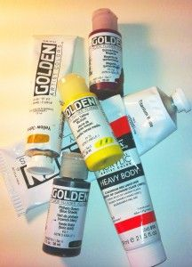 A good primer on the types of Acrylic paint you can buy