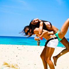 Best Friends Beach Fun