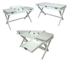 "Cape Cod Cottage Style Barrister Desk (31""h x 54""w x 27.5""d)"