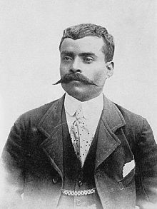 Emiliano Zapata Salazar (August 8, 1879 – April 10, 1919) was a leading figure in the Mexican Revolution, which broke out in 1910, and which was initially directed against the president Porfirio Díaz. He formed and commanded an important revolutionary force, the Liberation Army of the South, during the Mexican Revolution. Followers of Zapata were known as Zapatistas.