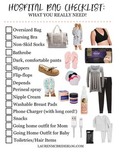 Life and style blogger Lauren McBride shares her Hospital Bag Checklist with printable PDF, and what you REALLY need to pack in your hospital bag.
