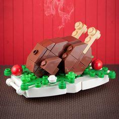 Pavo hecho con LEGO