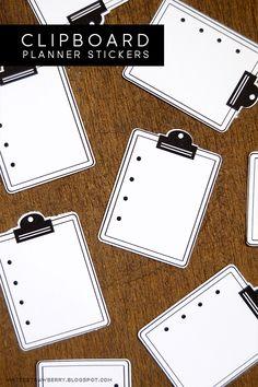 MINTEDSTRAWBERRY: Clipboard Planner Stickers