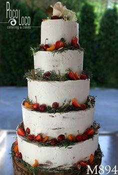 Torta za svadbu ukrašena šlagom