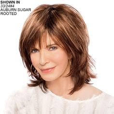 Dazzle Wig by Jaclyn Smith - Paula Young Medium Hair Styles, Short Hair Styles, Wig Styles, Shoulder Length, Hair Pieces, Bob Hairstyles, Hairstyles Over 50, Haircuts, Hair Lengths