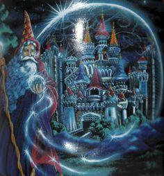 Excalibur Coffee Mug Cup Wizard Castle Hotel Casino Vegas Black Gold 3D 14 oz