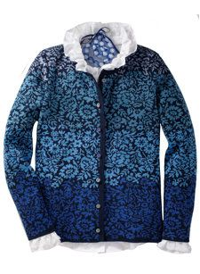 elin cardigan by oleana. Fair Isle Knitting Patterns, Knitting Designs, Norwegian Knitting, Fair Isles, Kinds Of Clothes, Silk Wool, Knitting Yarn, Knit Cardigan, Sweater Jacket