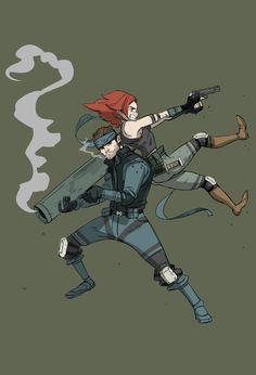 Snake and Meryl by Dynamaito on DeviantArt Snake Metal Gear, Metal Gear Games, John Snow, Meryl Mgs, Sansa Stark, Metal Gear Survive, Cyberpunk Games, Big Lizard, Metal Gear Solid Series