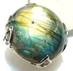 Labradorite Sterling Silver Ring  weight 22.80g by SilverRushStyle, $109.99