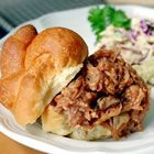 BBQ Pork for Sandwiches with 3 ingredients and the slow cooker!