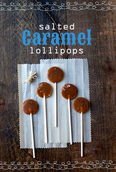 Salted Caramel Lollipops Recipe