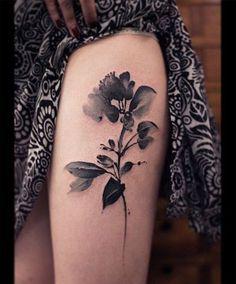 black watercolor ribbon tattoo - Google-Suche