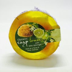 Glycerin face soap with sea sponge - Lemon Glycerin Face, Lemon Soap, Face Soap, Sea Sponge, Body Cleanser, Ideal Body, Sheer Material, Health Care