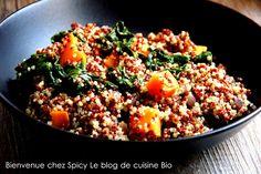 Bienvenue chez Spicy: Quinoa épinards et patate douce