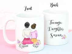 Personalized Teenage Daughter Survivor Mug, Funny Gift for Mom, perfect Gift for mom.