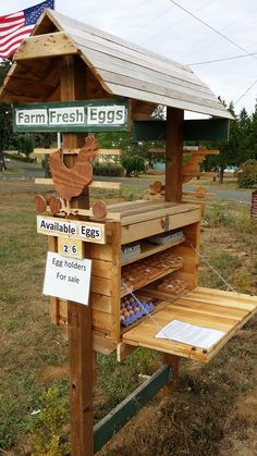 Egg Selling Station (honor system). Could not find a link or photo credit for this.