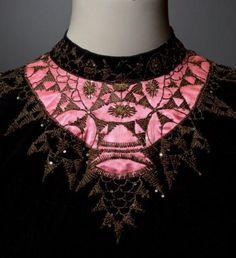 SCHIAPARELLI  Haute couture # 424 circa 1938/1940 embroidery house Lesage