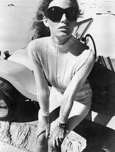 Ines Kummernuss in knit pullover by Falke. Photo: F.C. Gundlach, Capetown, South Africa, 1969.