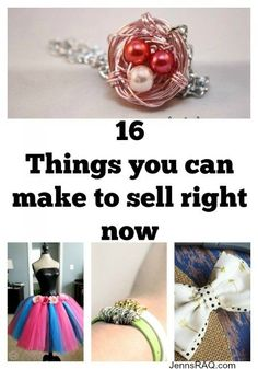 Check out these 16 things you can make to sell right now if you're needing some extra cash and enjoy making crafts. Have fun while earning money!: