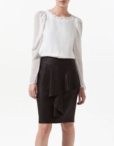 LOVE THIS BLOUSE! COMBINED SLEEVE TOP - Shirts - Woman - ZARA United States