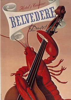 Hotel Belvedere label by Charles Kuhn